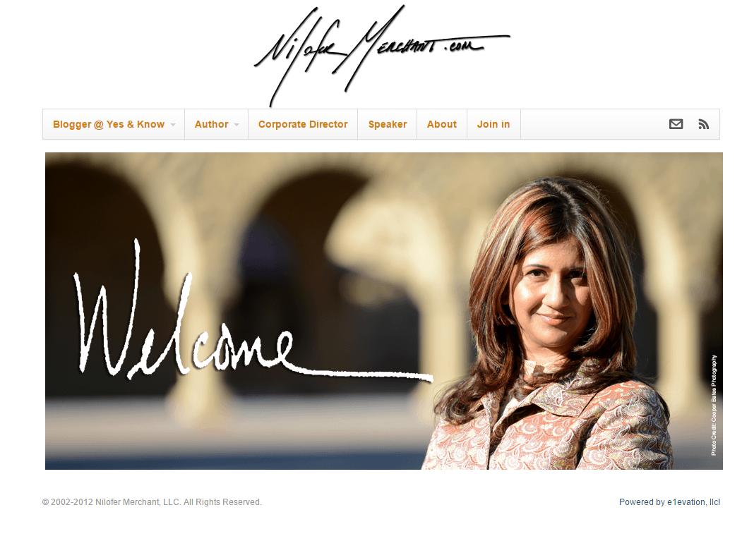 Nilofer Merchant homepage