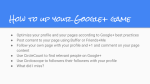 How to up your Google+ game